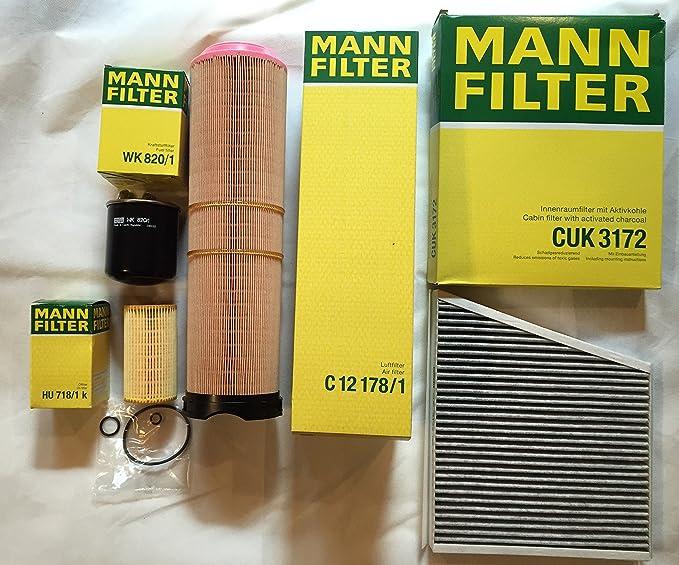 Mann Filter Set Oil Filter Air Filter Fuel Filter Activated Carbon Filter For Mercedes Benz E Class W211 S211 200 220 270 Cdi Auto