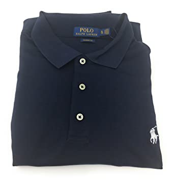 7e0ec13b Polo Ralph Lauren Men's Short Sleeve Classic Fit Polo Shirt Navy (XL, Navy)  at Amazon Men's Clothing store: