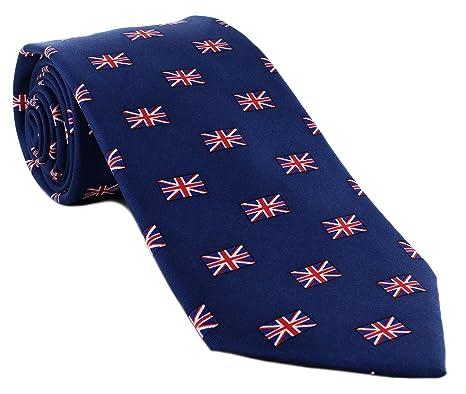 bc0d52218462 Small Union Jack Pattern Silk Tie: Amazon.co.uk: Clothing