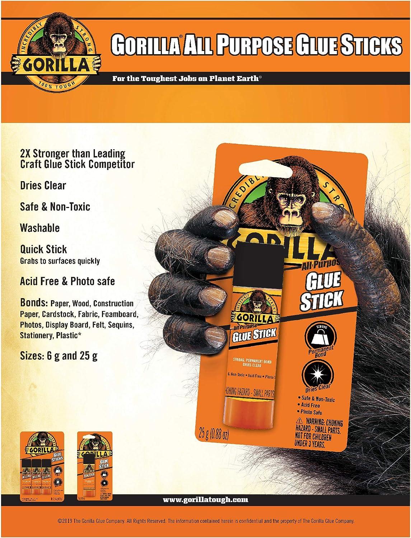 Gorilla All Purpose Glue Stick, 25 gram (Pack of 1): Home Improvement