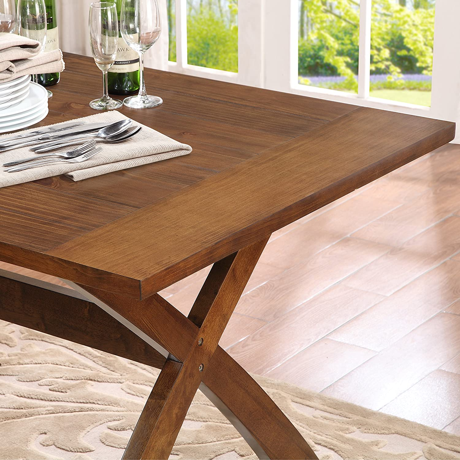 Amazon Dorel Living Multi Functional Dining Table Dark Pine