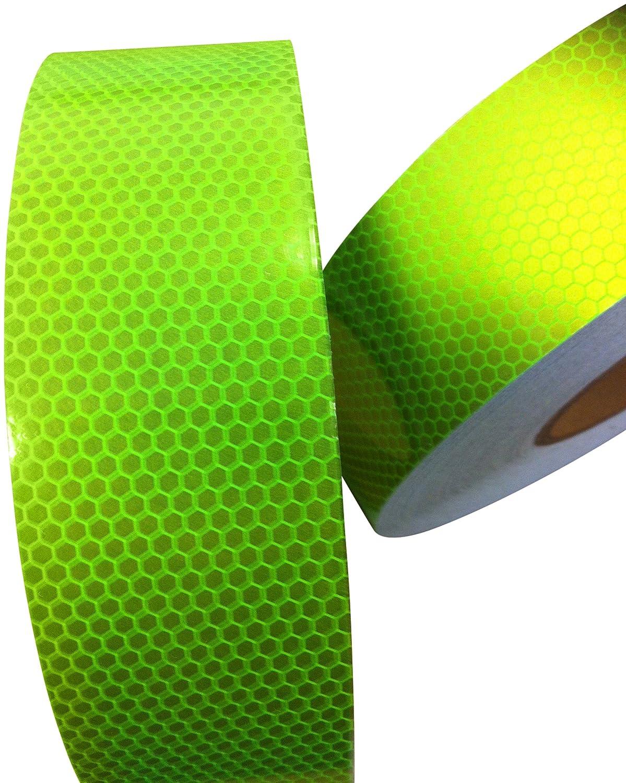 Hoch Intensives Limette Reflektierendes Klebeband 50mm x 2.5m Direct Products