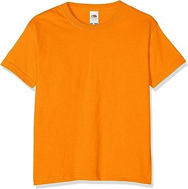 Fruit of the Loom - Camiseta básica de Manga Corta para niño/niña Unisex - 100% Algodon de Primera Calidad: Amazon.es: Ropa y accesorios