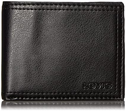 20bc04627cb641 Levi's Men's Slim Bifold Wallet - Genuine Leather Casual Thin Slimfold with  Extra Capacity and ID