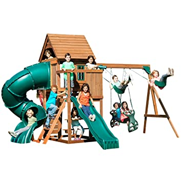 Amazon Com Swing N Slide Tremont Tower Play Set With Two Slides