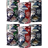 Blue Buffalo Wilderness Trail Treats Grain-Free Wild Bits Dog Treats - 3 Flavors 2 BAGS EACH FLAVOR (Salmon, Chicken, & Duck)
