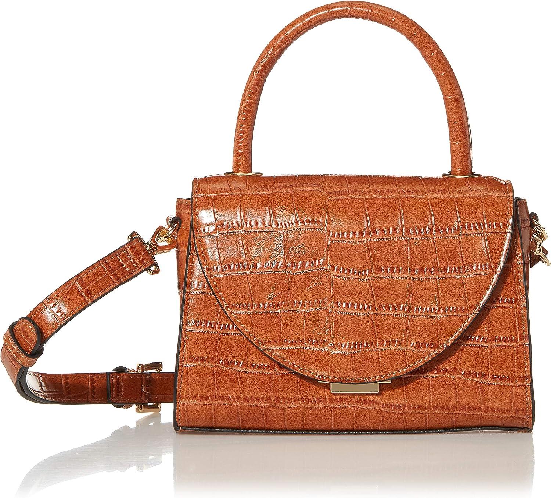 Steve Madden LACIE Top Handle Bag, Croco Cognac