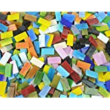 Lanyani 400 Pieces/17.6oz Rectangle Mosaic Tiles Stained Glass for Crafts and Home Decorations Assorted Colors Textures…