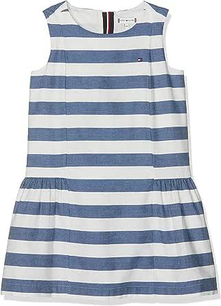 فستان بدون أكمام للفتيات من تومي هيلفيغر بتصميم إيكونيك تشامبيراي