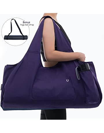 32b119fc75 Uhawi Yoga Mat Bag Large Yoga Mat Tote Sling Carrier with 4 Pockets Fits  Mats with