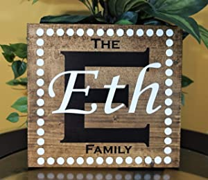 Customized Last Name Wall Art Sign Hanging Printed Wood Plaque for Outdoor Indoor Home Rustic Farmhouse Porch Wall Decor 16