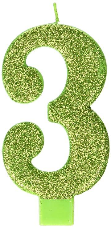 Amazon.com: Kiwi # 3 Cumpleaños Glitter 5.25