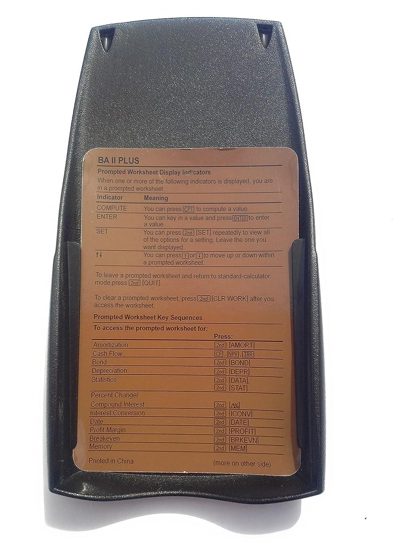 Texbaiiplus Texas Instruments Ba Ii Plus Adv Casio Calculator Ds 1ts 10 Digits Financial Electronics