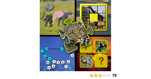 Animales juegos de habilidad puzzle y memoria de niños - enseña a los niños las letras de los alfabeto contando y jigsaw formas convenientes para Kinder preescolar y: Amazon.es: Appstore para Android