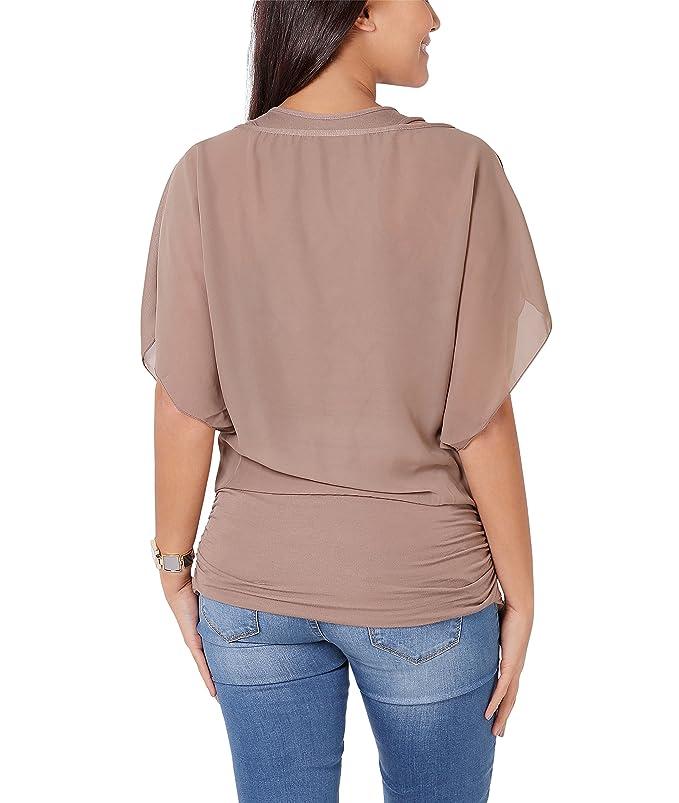 KRISP de chifón de para bicicleta reloj de mujer con esfera de la parte superior patrones de Batwing blusa de camiseta de chaleco de: Amazon.es: Ropa y ...