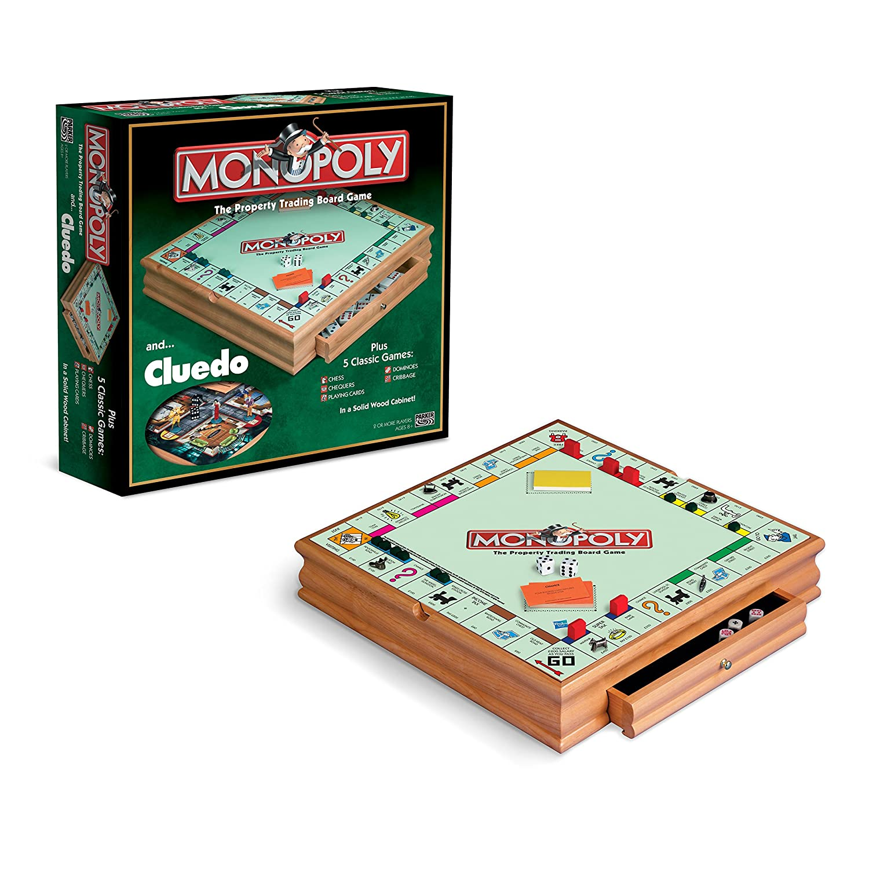 Hasbro Monopoly And Cluedo Compendium Board Game