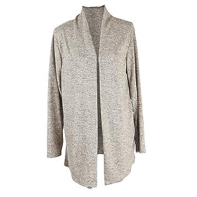 JMTI-Boutique Wolfairy Women s Plus Size Cardigan Quirky Jacket - Beige 14 8b1618bb66