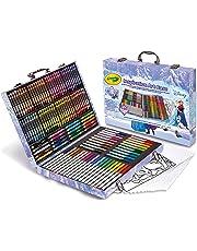 CRAYOLA Valigetta dell'Artista Disney Frozen per Colorare e Disegnare, età 5 Anni, per Gioco e Regalo, Colori Assortiti, 140 Pezzi 04-2539