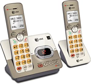 AT&T EL52213 2-Handset Expandable Cordless Phone with Answering System & Extra-Large Backlit Keys