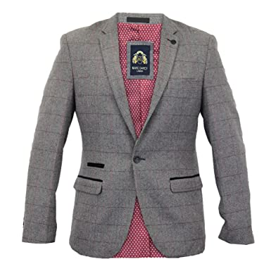 Men s Marc Darcy Blazer DION Grey Chest 48R  Amazon.co.uk  Clothing 355127e6d
