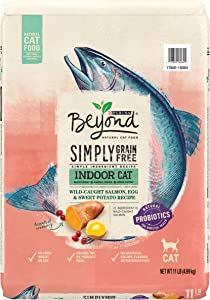 Purina Beyond Grain Free, Natural Dry Cat Food, Simply Indoor Salmon, Egg & Sweet Potato Recipe - 11 lb. Bag