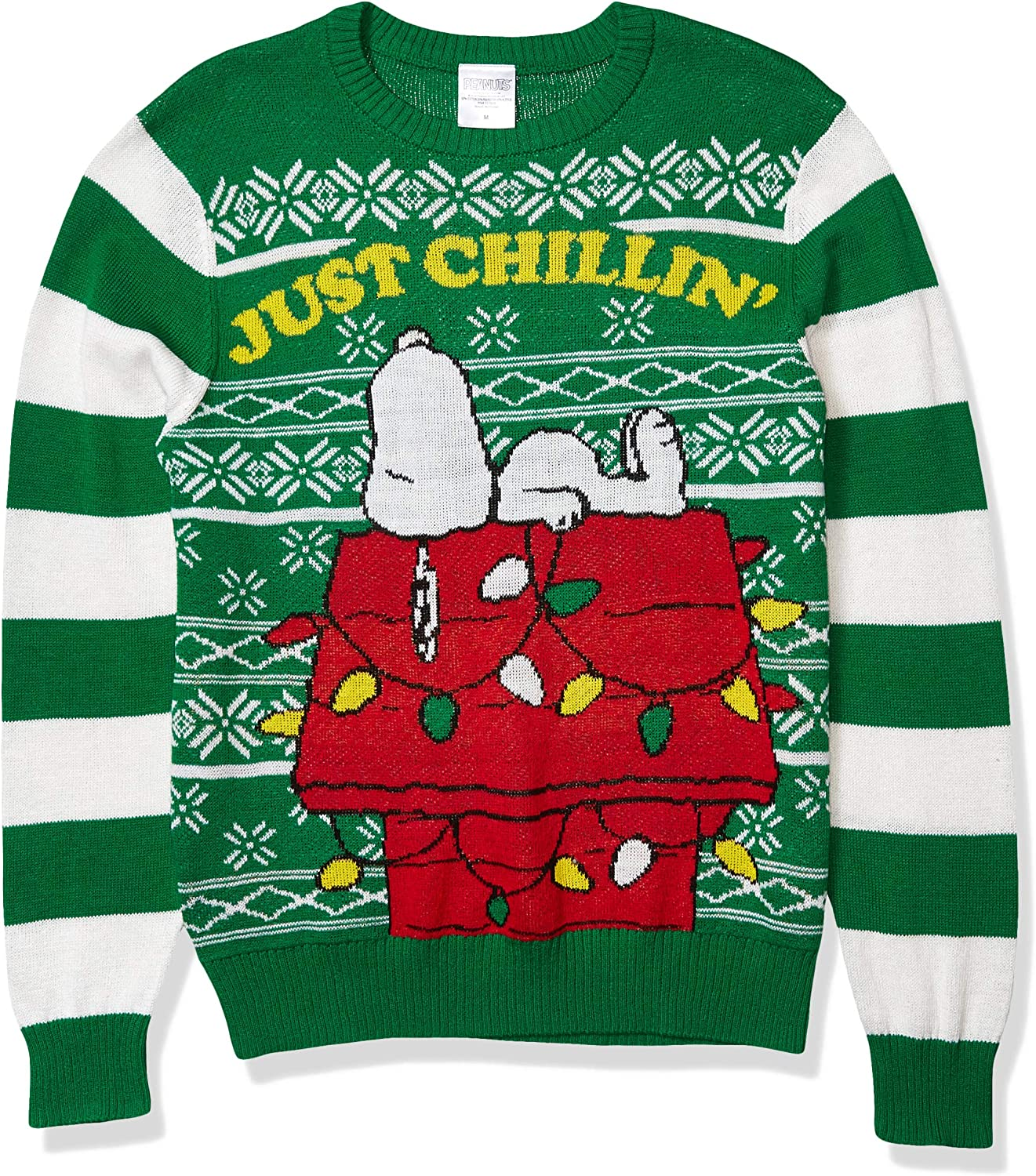 Nickelodeon Mens Ugly Christmas Sweater Pullover Sweater