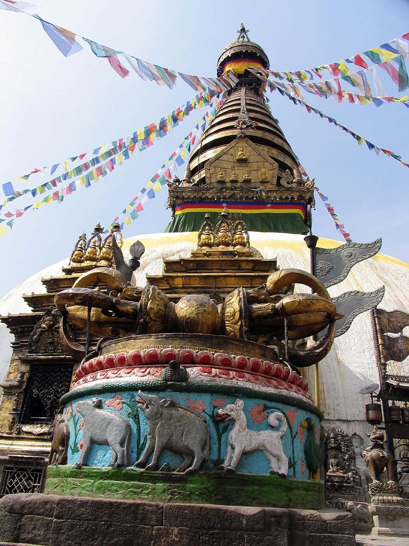 10 banderas 160 cm algod/ón BUDDHAFIGUREN Banderas de oraci/ón budistas Juego de 5