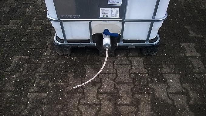 Anschlussset f/ür IBC Container Tank Niederdrucktr/änke Tr/änkebecken Tr/änke NEU