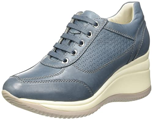 fc9dcc9a70e36 Low avio Amazon Regina Donna Scarpe 35 it G Top Donna Geox Blu qvw8IA