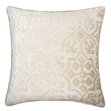 Amazon Com Homey Cozy Modern Velvet Throw Pillow Cover Ivory White