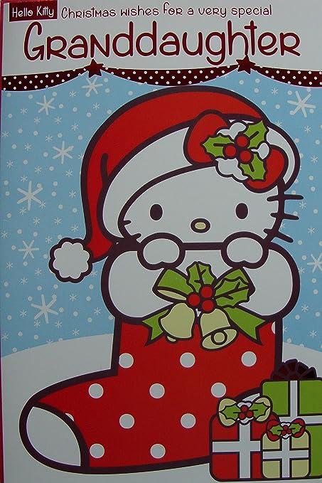 Hello Kitty petite fille carte de Noël: Amazon.fr: Fournitures de