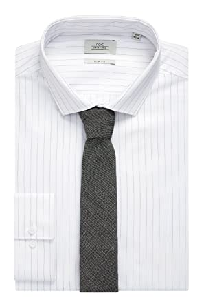 next Hombre Camisa Ajustada Rayas con Corbata Corte Slim 18R ...