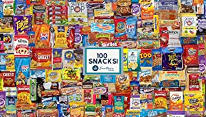 Snacks Variety Pack Gift Box (100 Count) - Huge Snack Care Package- Ultimate Individually Wrapped Snack Box for Adults, Kids, College Students, Military, Office