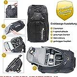 Rucksack XTREMplus Active Cube M - Premium Fotorucksack - Kamerarucksack mit Zugriff über die Seiten - Slingbag - (H:47cm B:27cm T:22cm Gewicht:1,39kg)