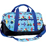 Overnight Duffel Bag Olive Kids by Wildkin Children's Duffel Bag with Carrying Handles and Padded Shoulder Strap, Perfect for Sleepovers and Sports Practice, Ages 3+ Years - Trains, Planes, Trucks