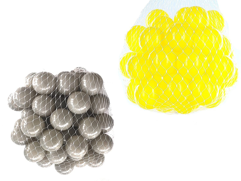 Balls For Ball Pool Mix Set with Yellow & Grey mybällebad