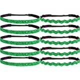 Hipsy Irish Green Hairbands St Patricks Day Accessories Clover Headband Gift Packs