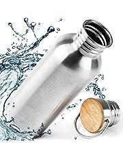 Botella Agua Acero Inoxidable 500ml. Botella Metalica Agua por Gimnasio, Yoga, Bicicleta.