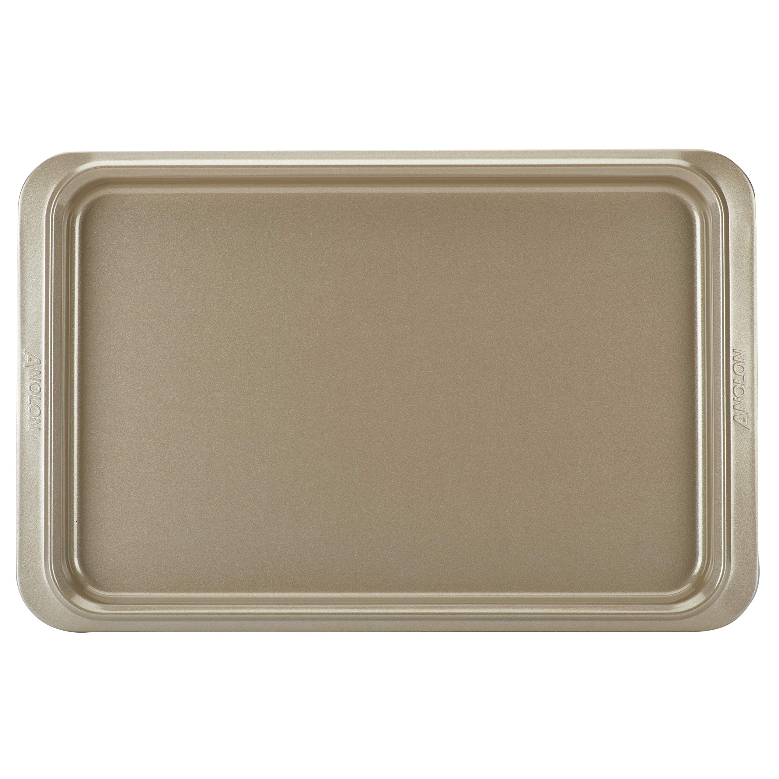 Anolon Eminence Nonstick Bakeware Cookie Pan, 11-Inch x 17-Inch, Onyx with Umber Interior by Anolon (Image #2)