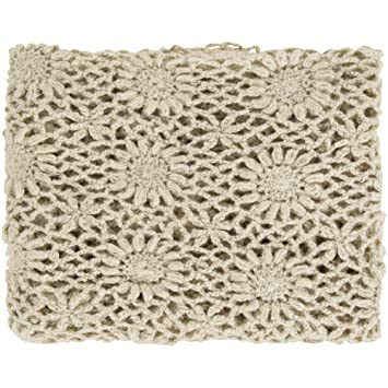 Amazon.com: Surya Teresa Crochet Throw – 50L X 60 W en ...