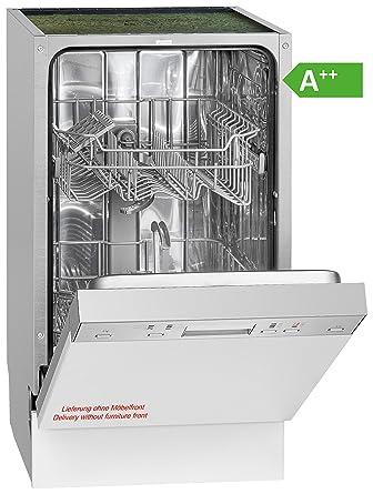 Bomann GSPE 889 Einbau Geschirrspüler / Teilintegriert / 45 Cm / EEK A++ /  9 MGD/ 6 Programme / 197 KWh/Jahr / Bedienblende Edelstahl: Amazon.de:  Elektro  ...