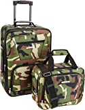 Rockland 2 Pc Luggage Set, Camouflage (Green) - F102-CAMO