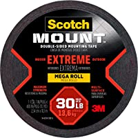 Scotch Extremely Strong Mounting Tape 2.5cm x 10.1m 414 long, Black