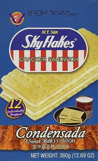 M.Y. San SkyFlakes Cracker Sandwich (Condensada - Sweet Milk Flavor) - 12.69 OZ