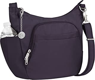 Travelon Anti-Theft Classic Crossbody Bucket Bag, Handbag and Metal Charm Keychain