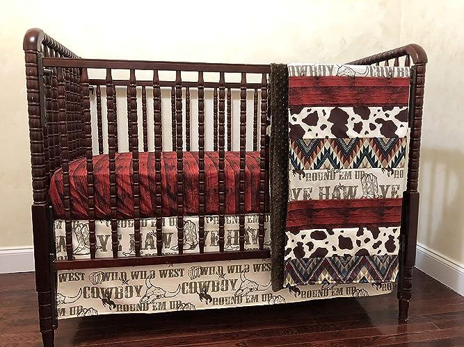 Amazon Com Nursery Bedding Cowboy Crib Bedding Set Western Crib