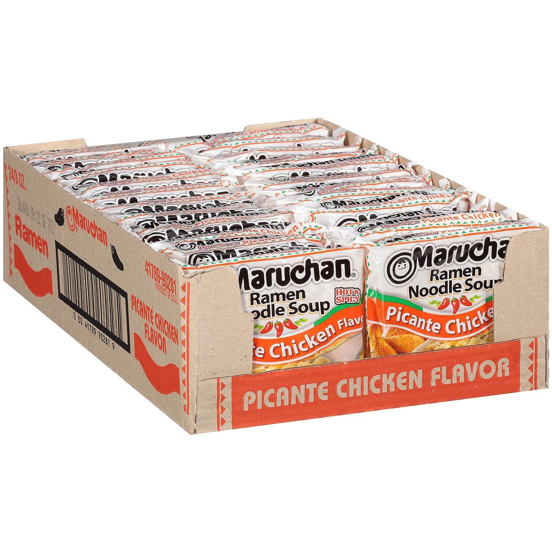 Maruchan Ramen Picante Chicken, 3.0 Oz, Pack of 24