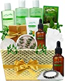 Pampering Gift Set Eucalyptus Mint Aromatherapy Spa Baskets for Men & Women. Bath & Body Spa Gift Baskets for Relaxation…