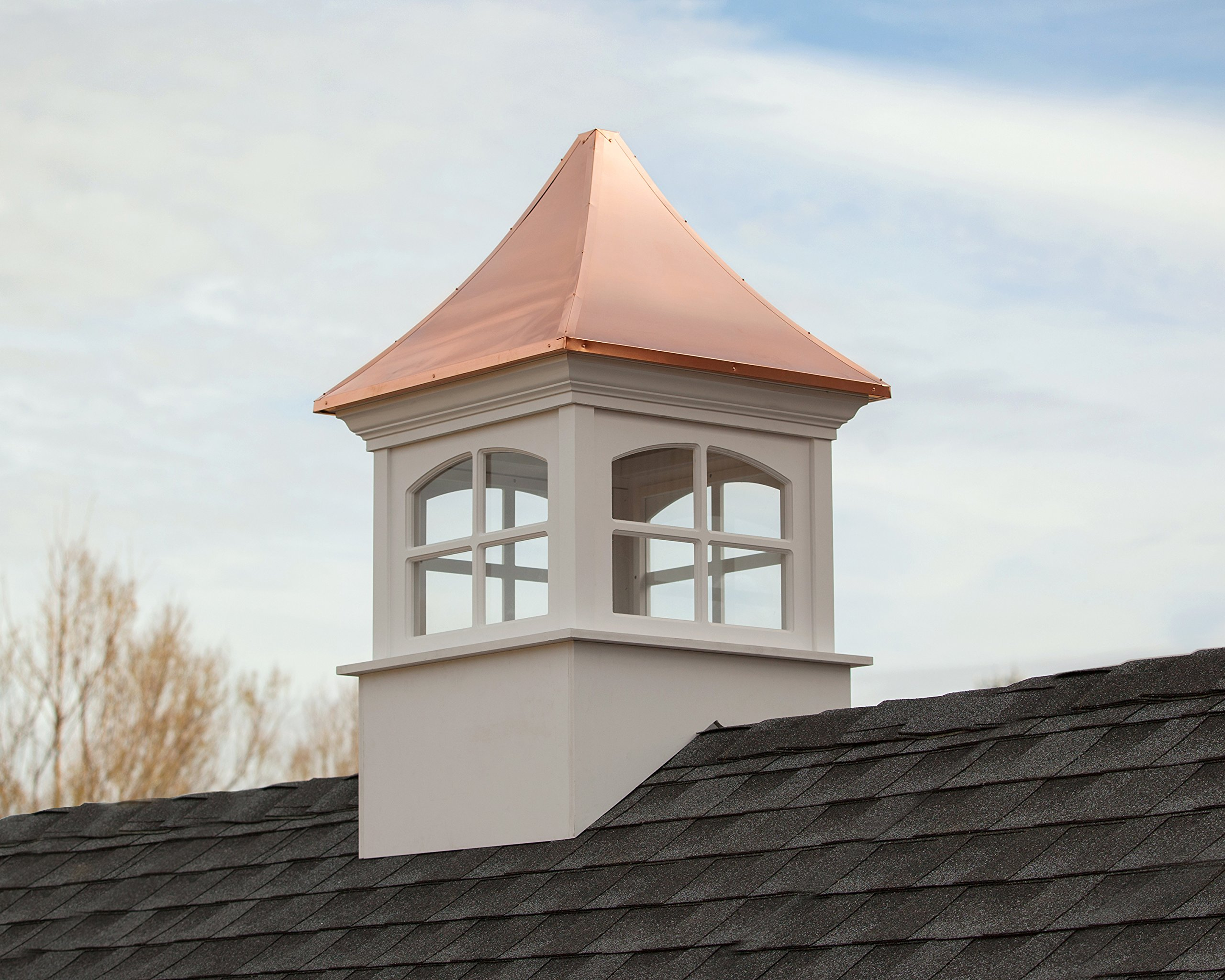 Good Directions Westport Vinyl Cupola with Copper Roof, 26'' x 42'' by Good Directions (Image #2)