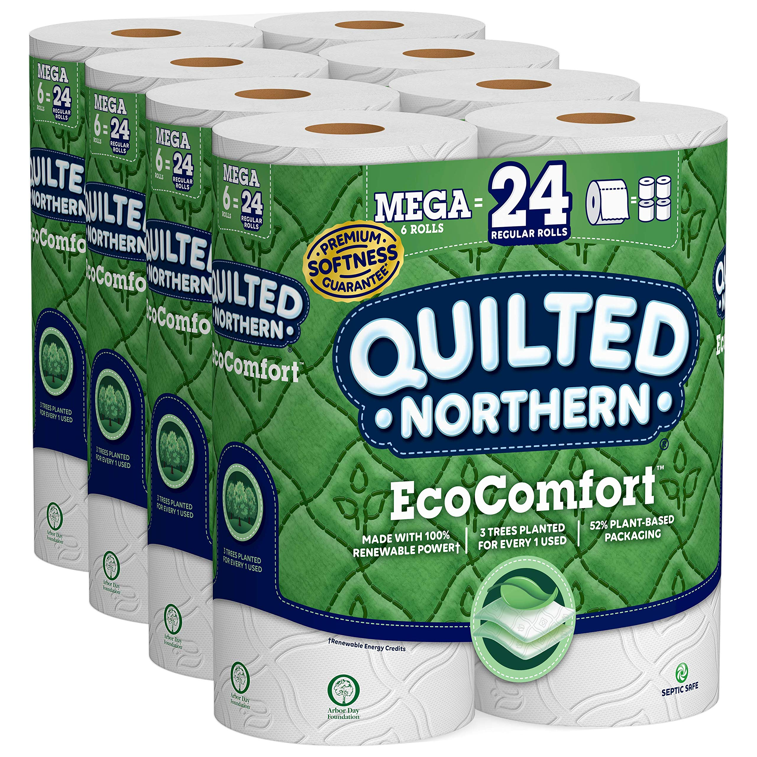 Quilted Northern EcoComfort Toilet Paper, 24 Mega Rolls 2-Ply (4 Packs of 6 Mega Rolls) by Quilted Northern
